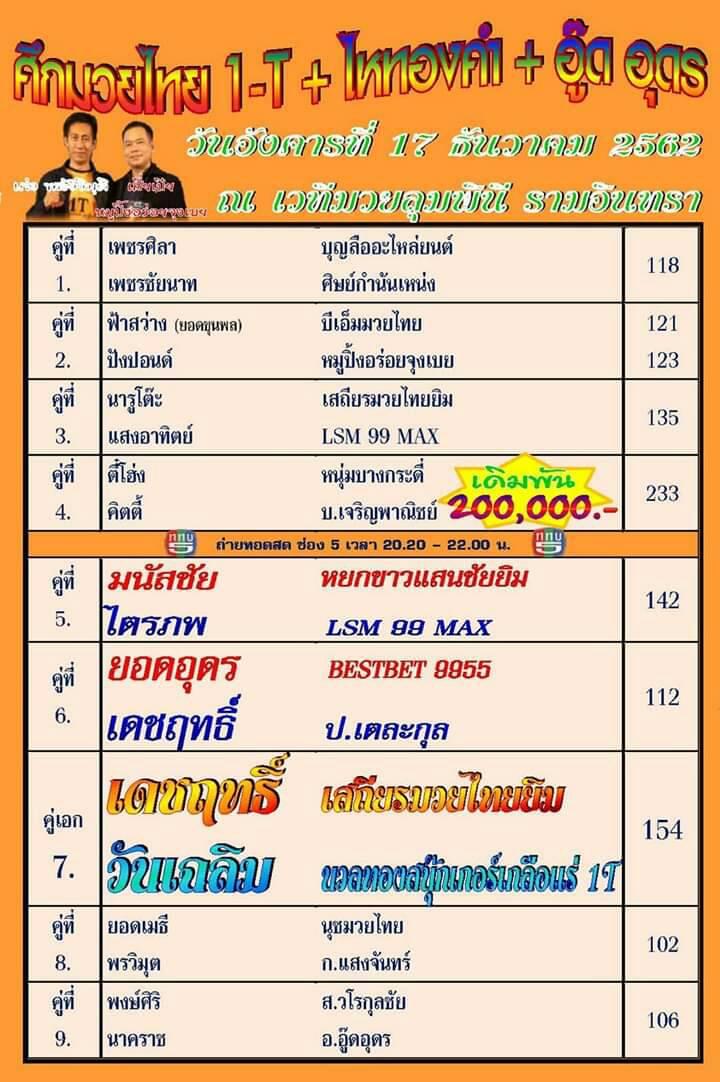 ศึกมวยไทย 1T